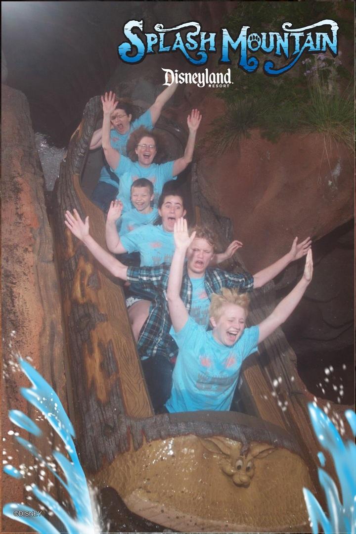 Splash Mountain With Custom Ink T-Shirt Photo