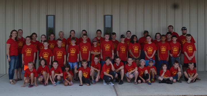 Over The Top For Jesus!  Kids Camp 2014 T-Shirt Photo