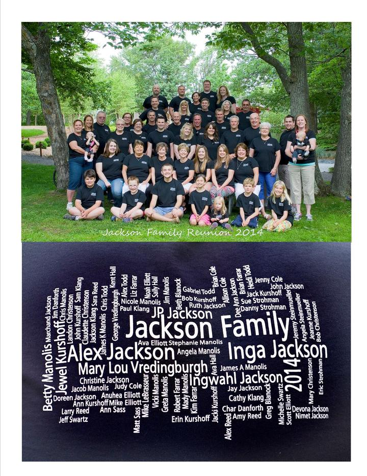 Jackson Family Reuinion T-Shirt Photo