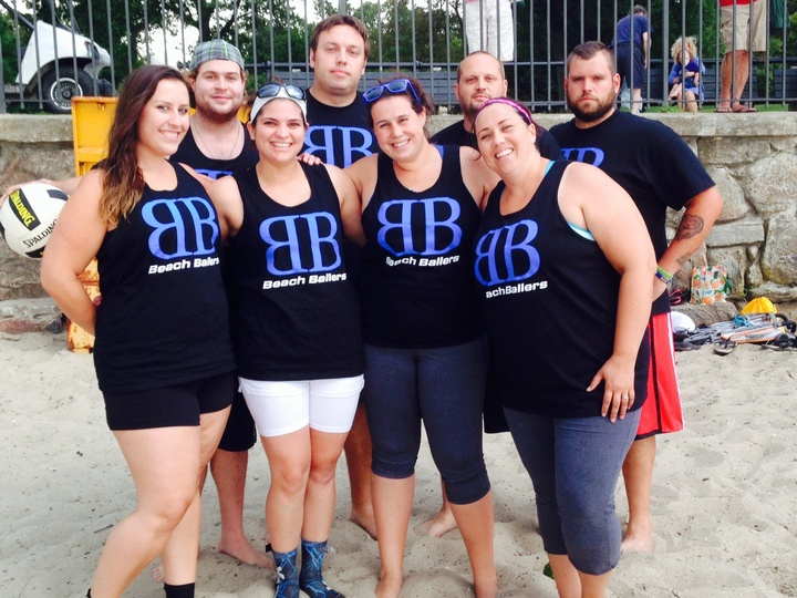 Beach Ballers Volleyball Team T-Shirt Photo