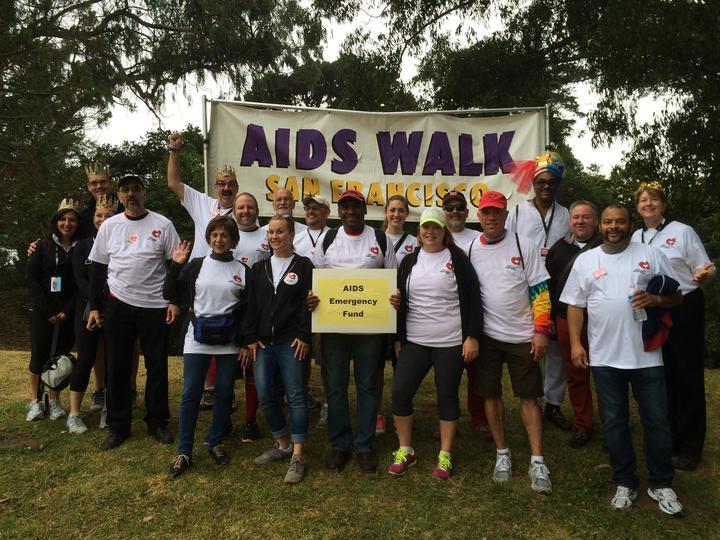 Aids Emergency Fund Walk Team T-Shirt Photo