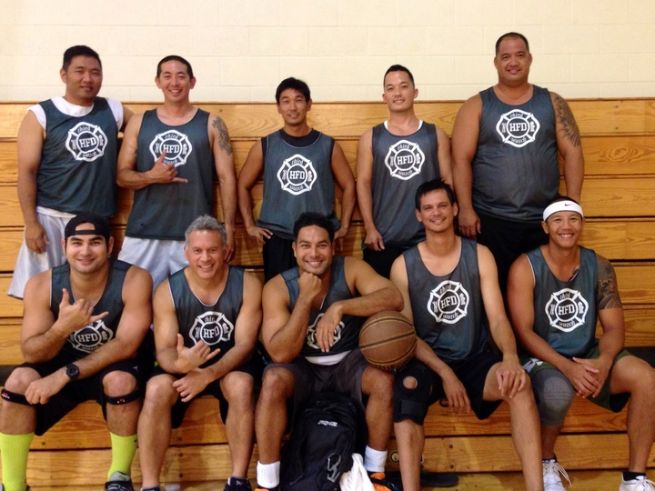 Honolulu Fire Dept 3rd Watch Bball T-Shirt Photo