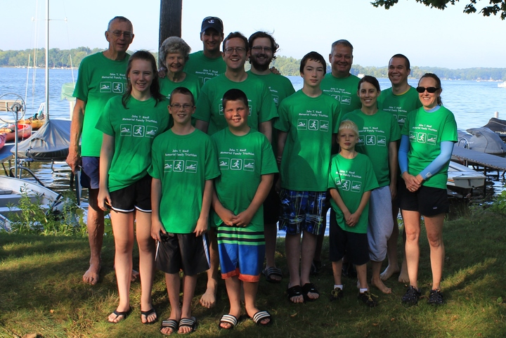 John T Riedl Memorial Family Triathlon T-Shirt Photo