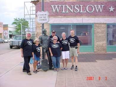 Standin' On The Corner In Winslow Arizona T-Shirt Photo