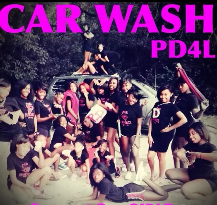 Pink Diamondz Dance Team Car Wash Pic T-Shirt Photo