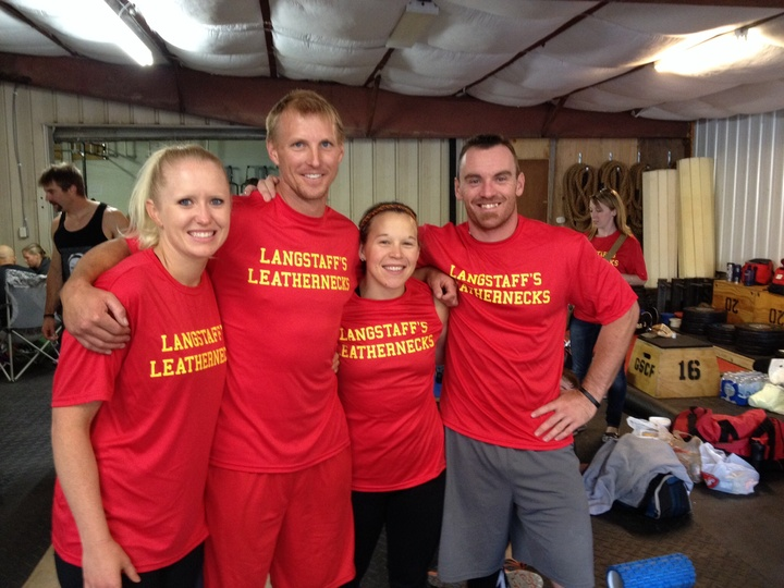 Langstaff's Leathernecks Summer Team Cross Fit Challenge T-Shirt Photo