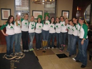 U Of Michigan Lacrosse Alumni St. Patty's Day Reunion Boston T-Shirt Photo