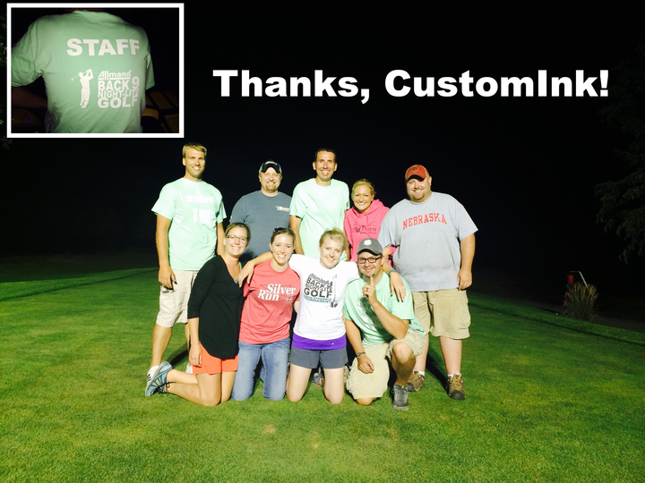 Allmand Night Lite Golf Volunteers T-Shirt Photo