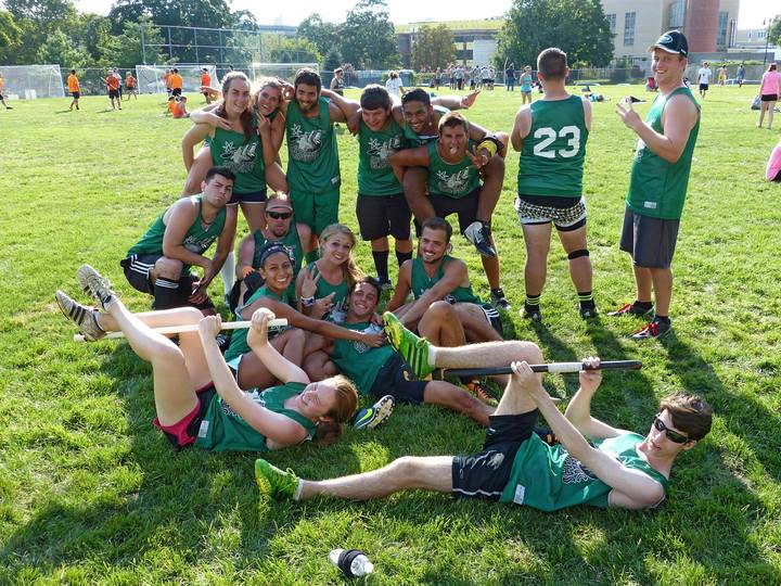 The Atomic Sloths Quidditch Team During The Northeast Regional Fantasy Tournament On Randall's Island T-Shirt Photo