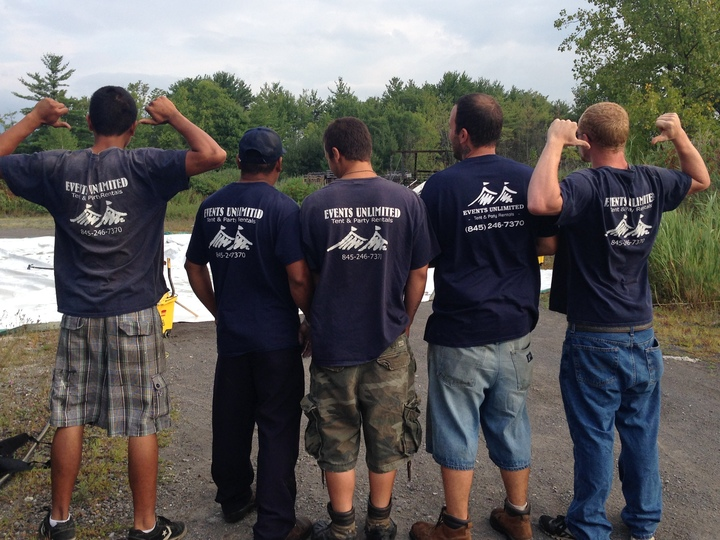 Events Unlimited Crew Looking Sharp In Our New Custom Ink Shirts! T-Shirt Photo