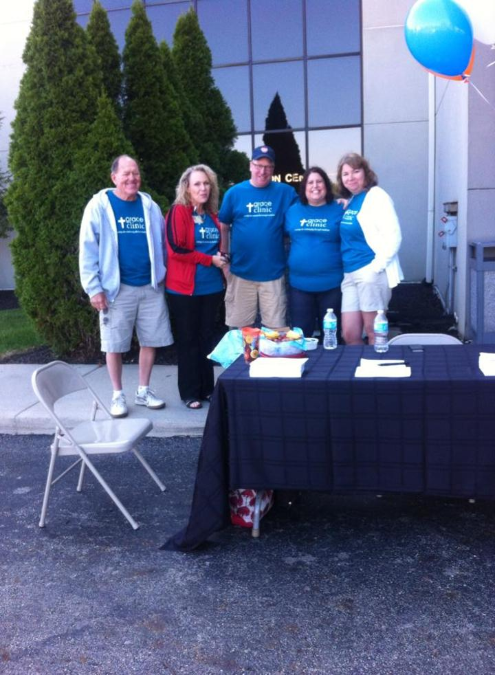 Showing Off Our Great Shirts At A Back To School Event T-Shirt Photo
