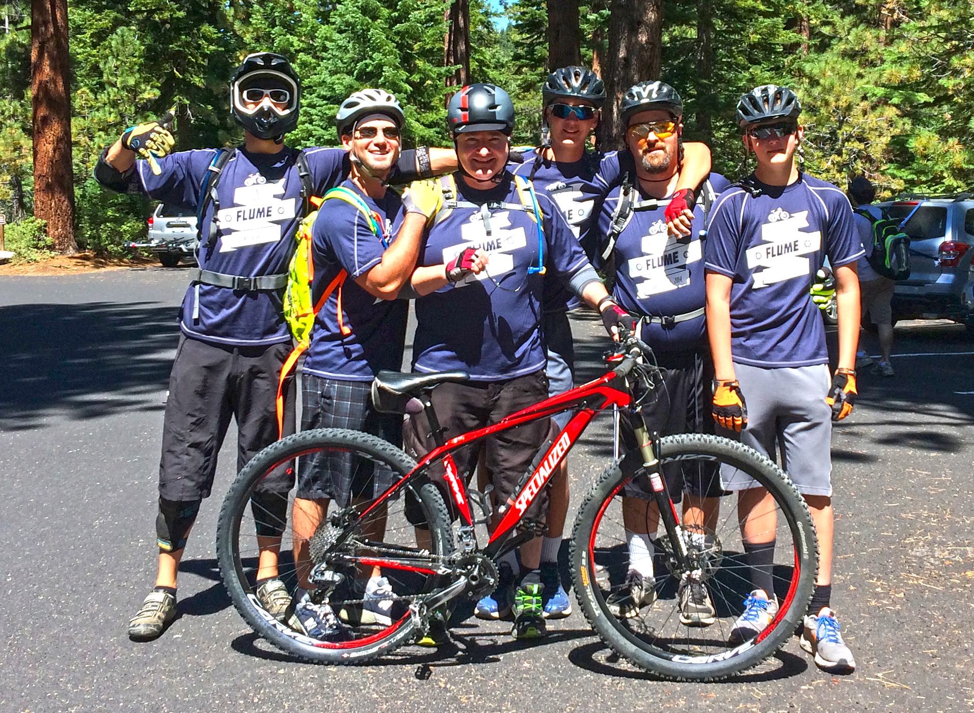 Cycling shirt design your own - Flume Trail Family Reunion Mountain Bike Event Ride T Shirt Photo