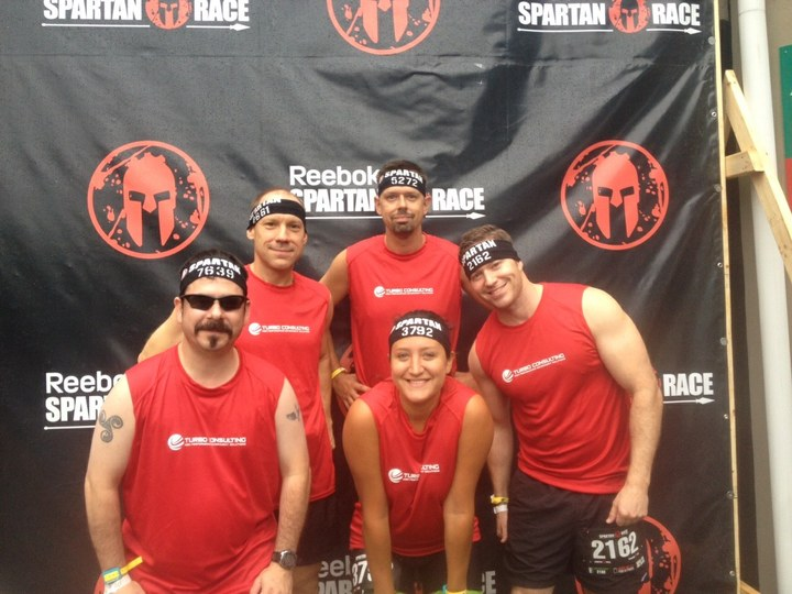 Turbo Consulting Team At The Spartan Race T-Shirt Photo