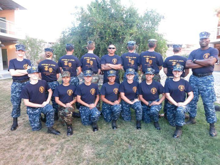Us Naval Sea Cadets Military Police Training, Nas Lemoore, Ca T-Shirt Photo