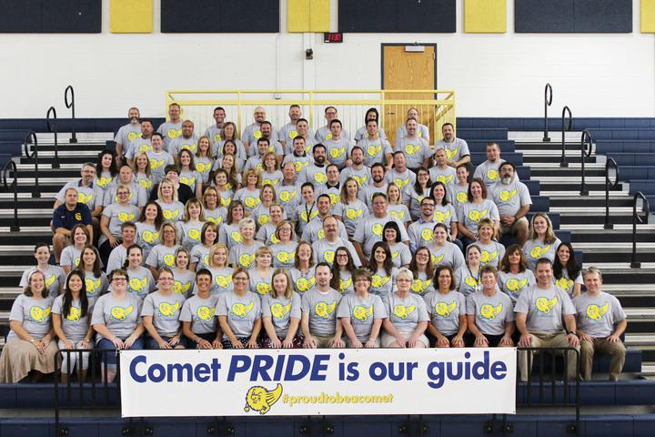 2014 2015 Grand Ledge High School Staff Picture T-Shirt Photo