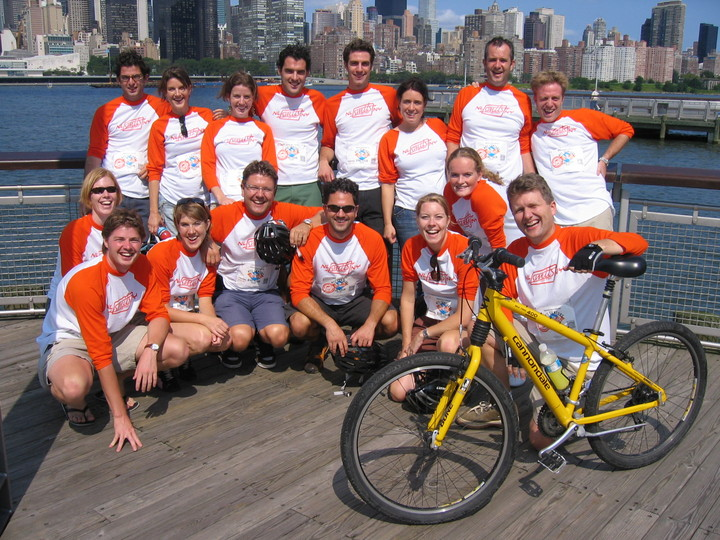 16 Cousins On A Bike Tour Through Nyc (2) T-Shirt Photo