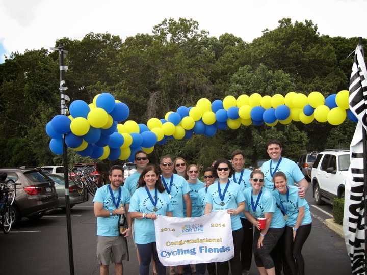 Team Cycling Fiends @ The Cycle For Life For Cystic Fibrosis T-Shirt Photo