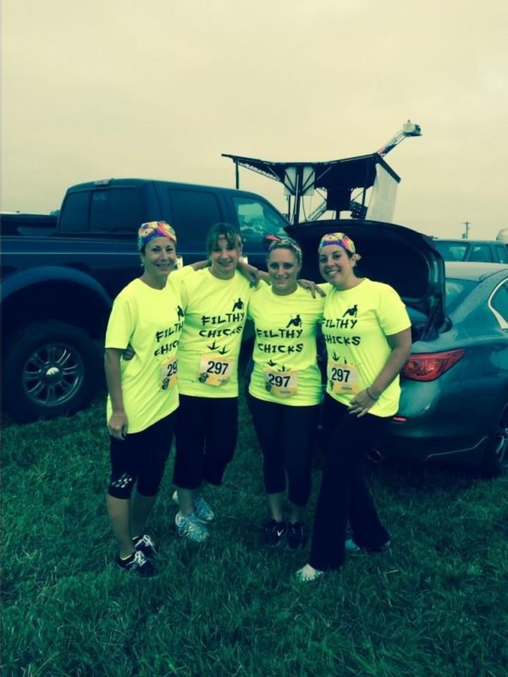 Filthy Chicks ~ Mud Run 2014 T-Shirt Photo
