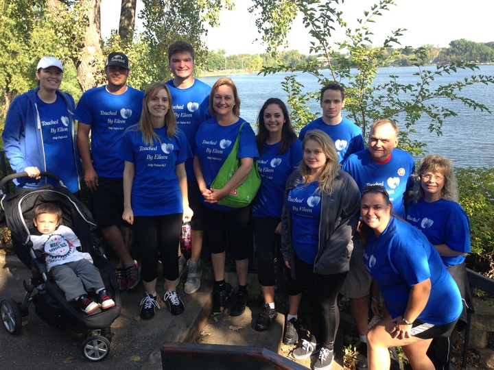 "Team ""Touched By Eileen"" At Als Walk T-Shirt Photo"