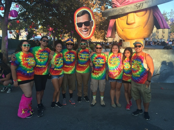 #The Crew At Beyond Wonderland Bay Area 2014 T-Shirt Photo