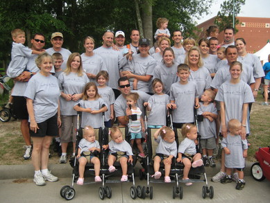 Wells Quints March For Babies Team T-Shirt Photo