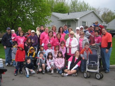 Canandaigua Ms Walk    Pink Petunias T-Shirt Photo
