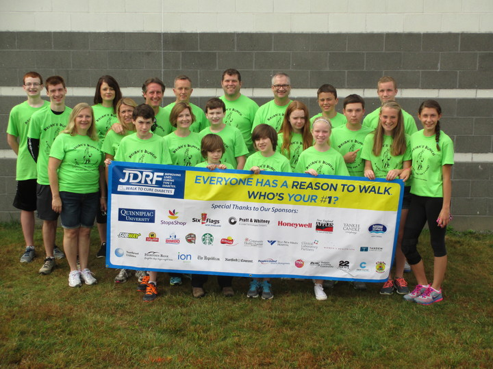 Brian's Bunch At The Greater Hartford Jdrf Walk To Cure Diabetes T-Shirt Photo