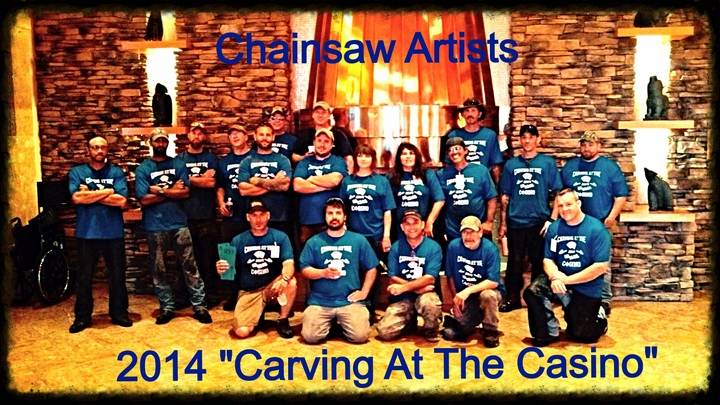 Chainsaw Carvers At The Salamanca Casino T-Shirt Photo