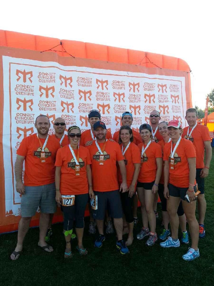Veloci Ragnar @ The Finish Line! T-Shirt Photo
