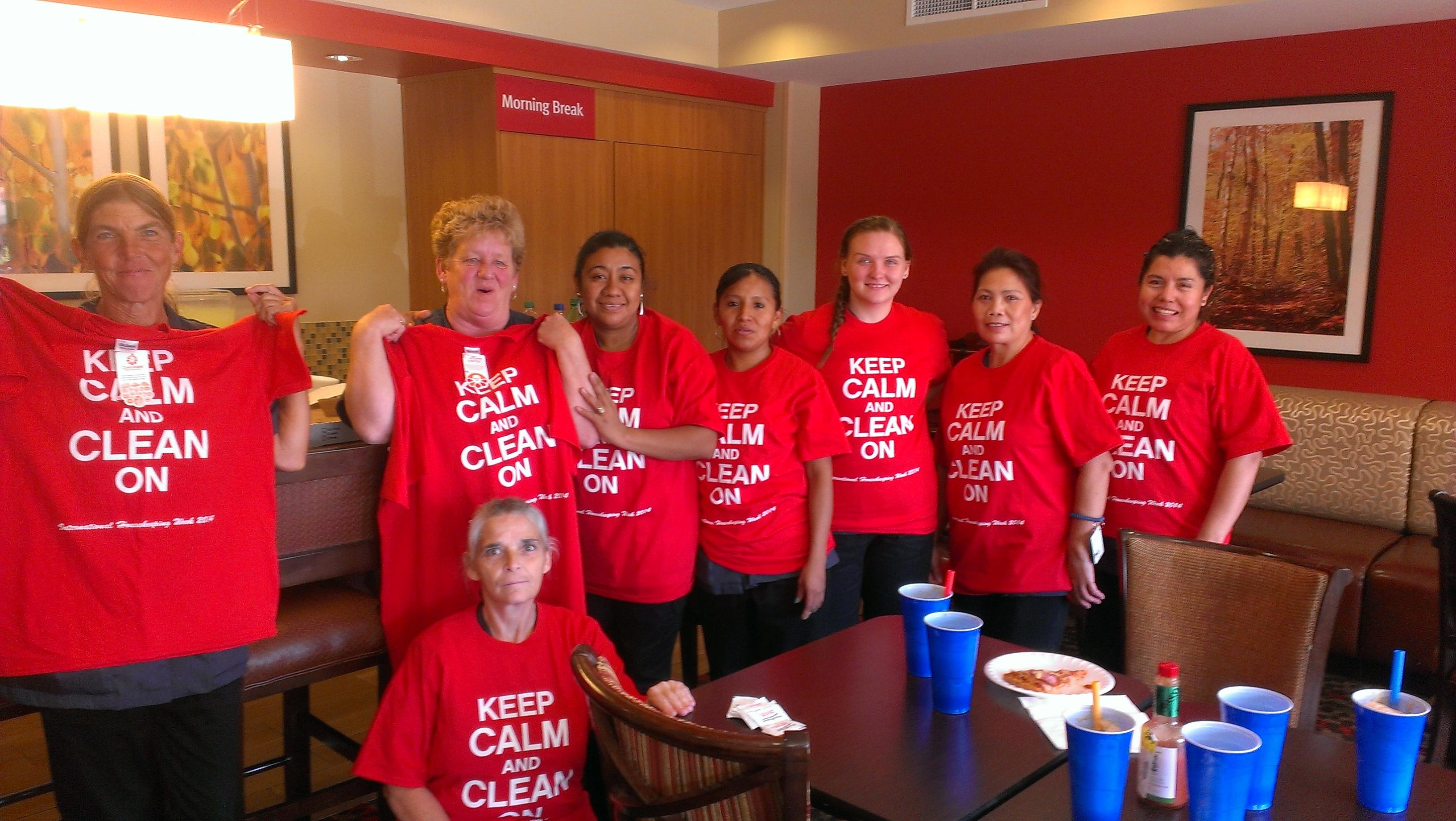 Design your own t-shirt keep calm - Housekeeping Week T Shirt Photo