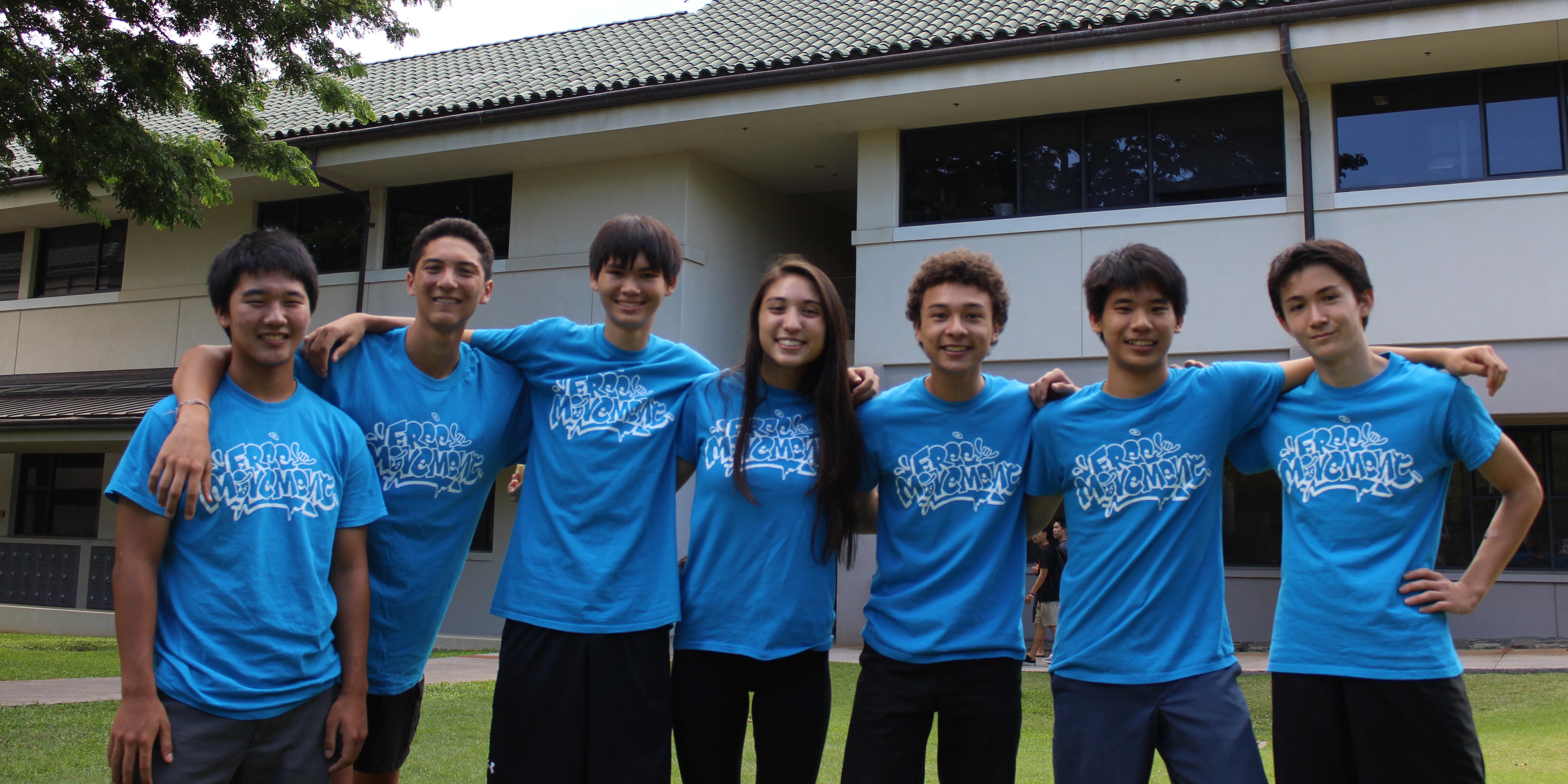 T shirt design hawaii - Hawaii Free Movement Club T Shirt Photo