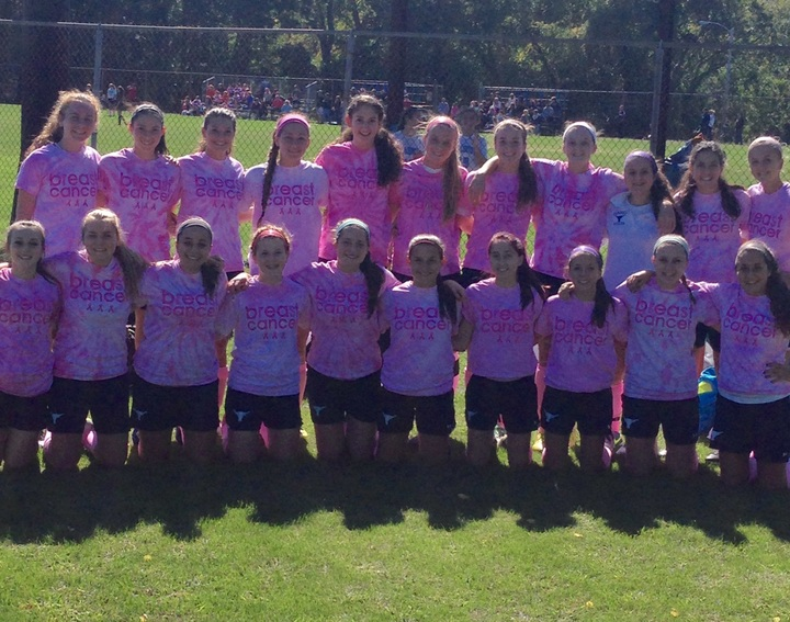 Peabody Soccer Kicks Out Cancer! T-Shirt Photo