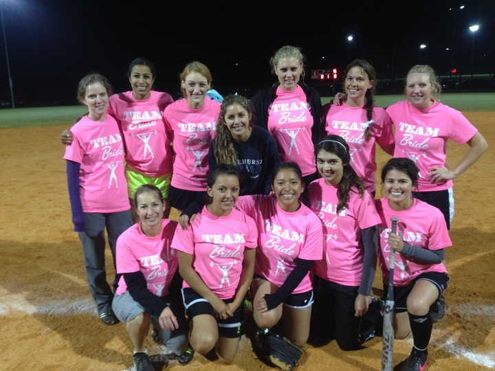 Team Bride Softball! T-Shirt Photo
