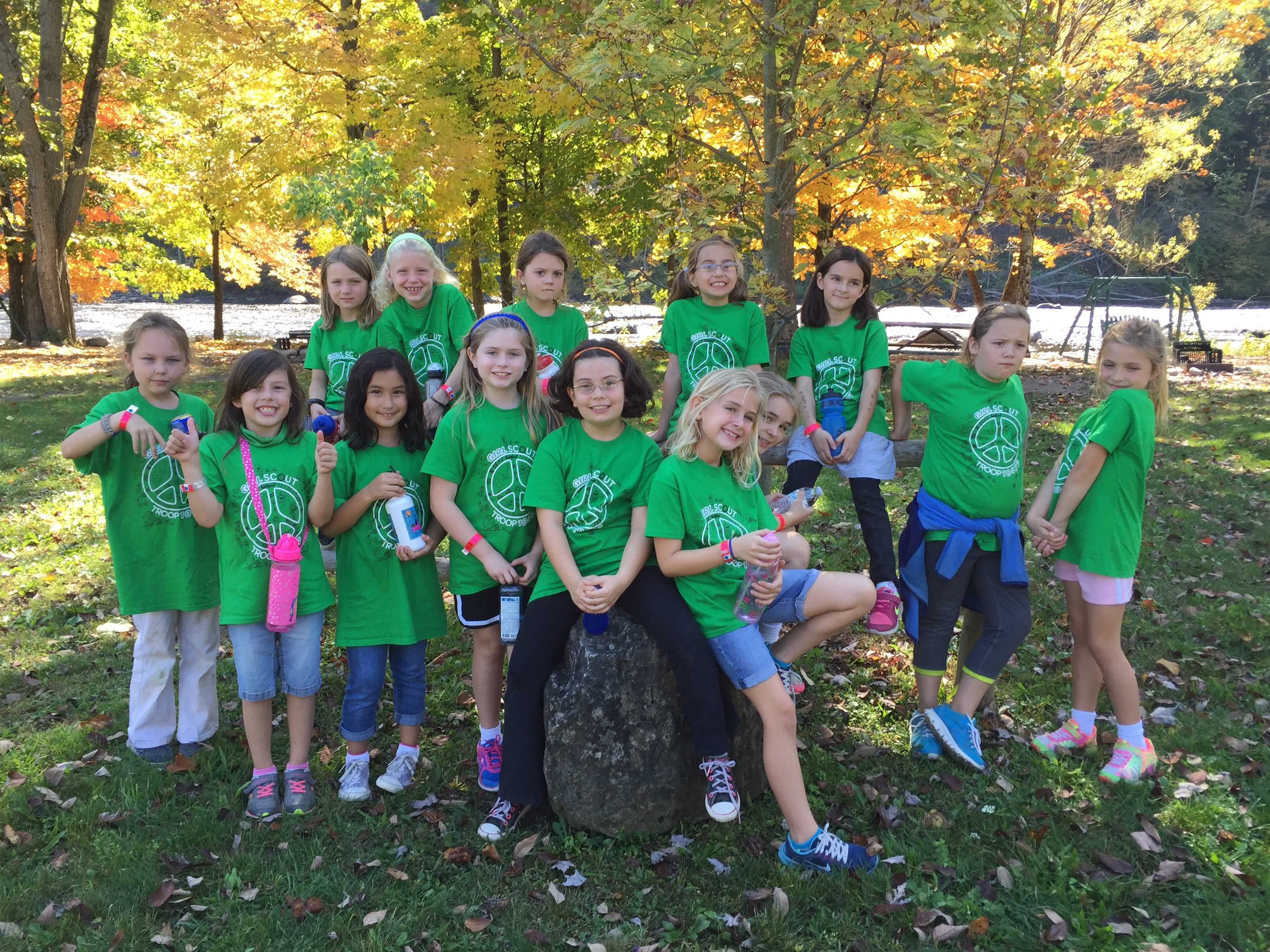 Custom t shirts for brownie girl scout troop spirit for Girl scout troop shirts
