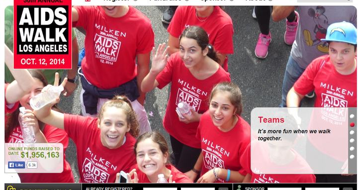 Milken Kids Who Care  Aids Walk 2014 T-Shirt Photo