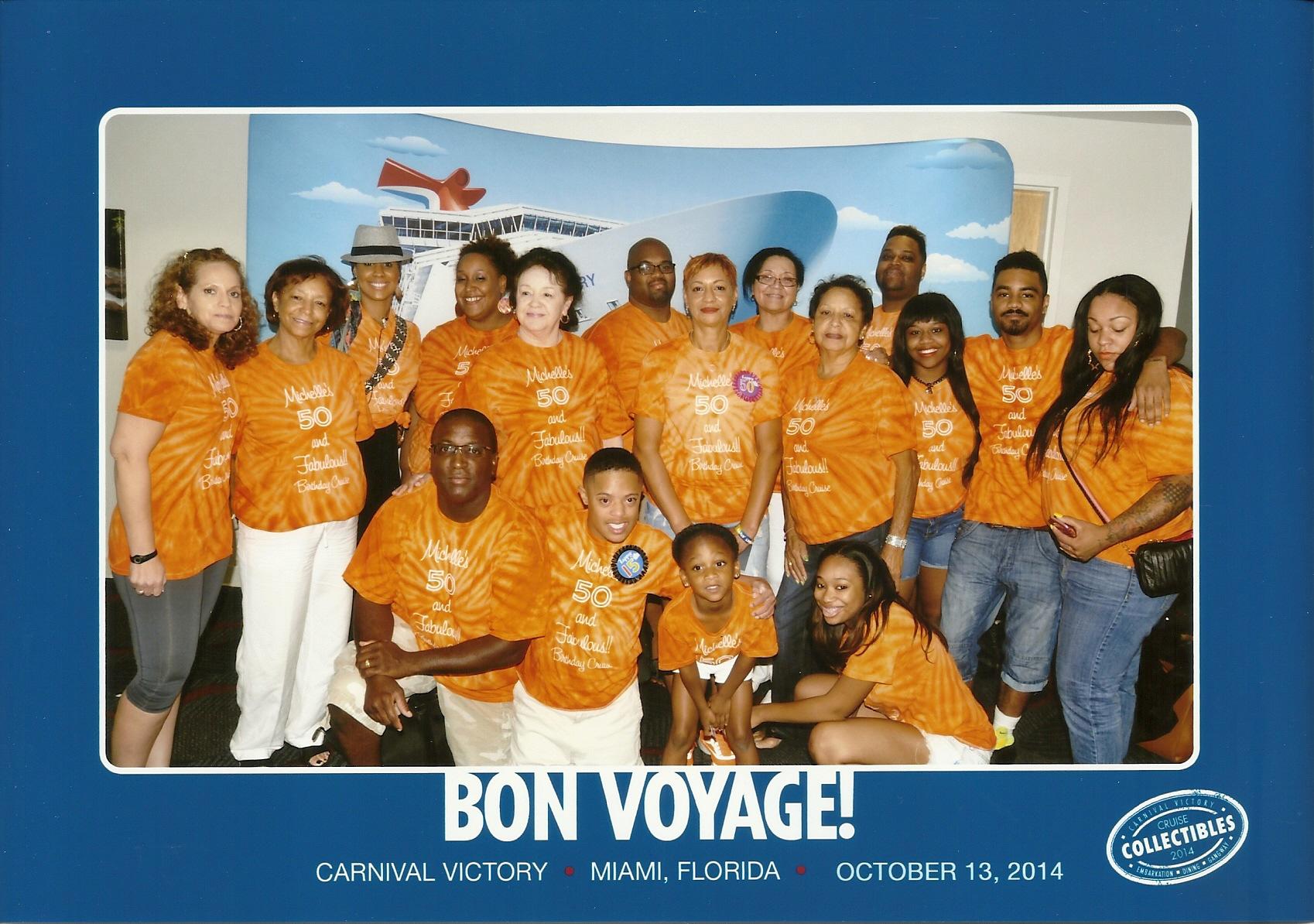 Design your own t-shirt miami - Michelle S 50 Fabulous Birthday Cruise T Shirt Photo