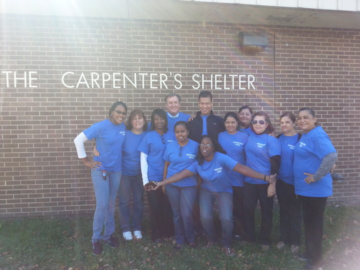 Helping The Carpenter's Shelter For The Homeless T-Shirt Photo