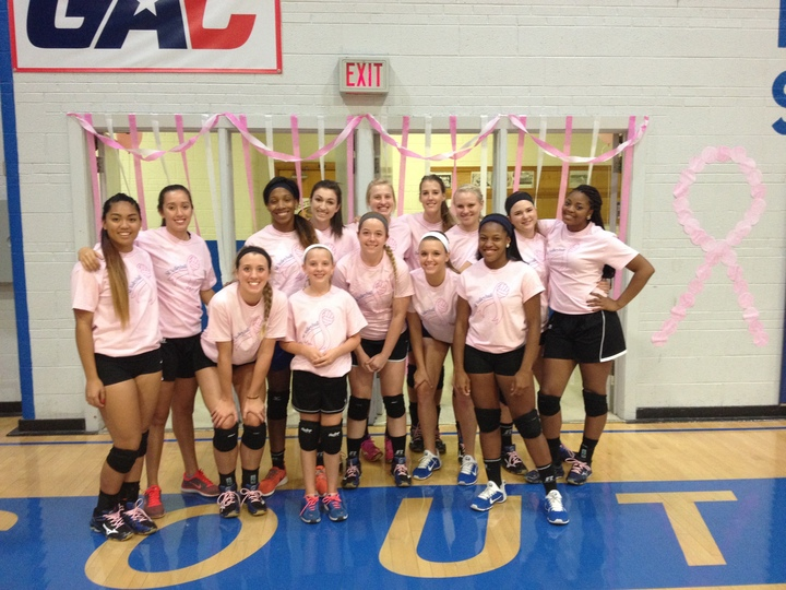 Southeastern Volleyball Dig Pink Night T-Shirt Photo