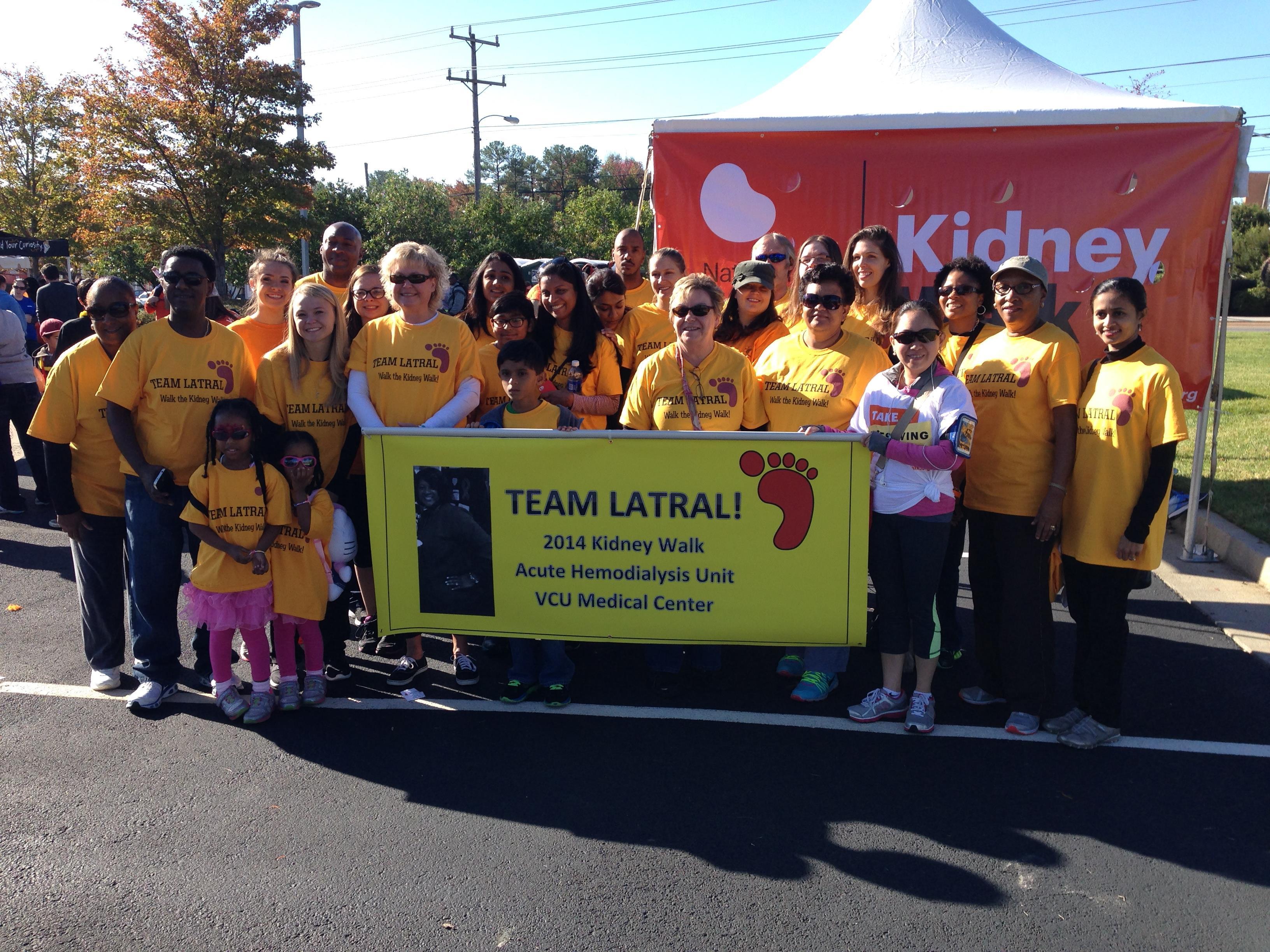 T shirt design richmond va - Team Latral The 2014 Nkf Kidney Walk In Richmond Virginia T Shirt Photo