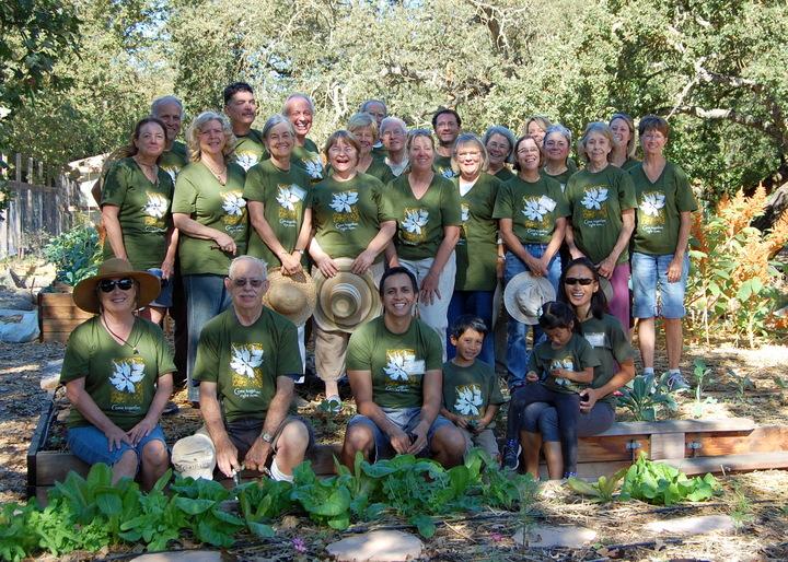 "Lafayette Community Gardeners With ""Chickens"" T-Shirt Photo"