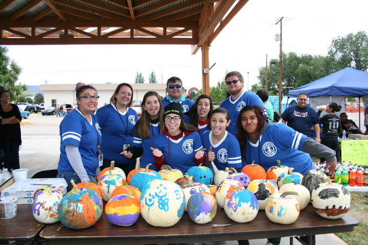 Pumpkin Painting At Fall Fiesta 2014 T-Shirt Photo