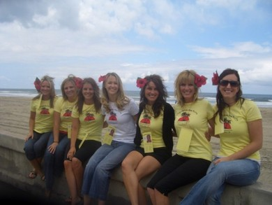 Bachelorette Beach Bar Crawl T-Shirt Photo