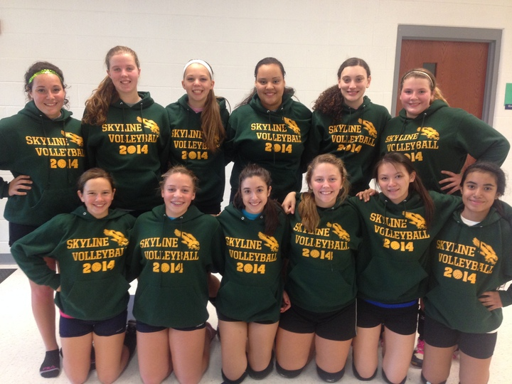 Skyline Volleyball T-Shirt Photo