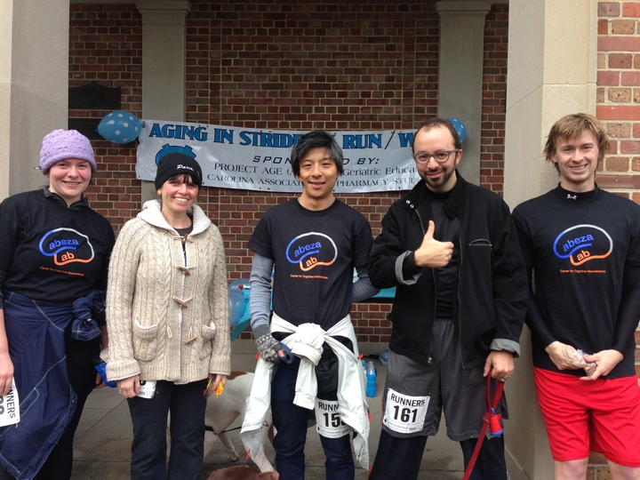 The Cabeza Lab At The Aging In Stride 5 K T-Shirt Photo