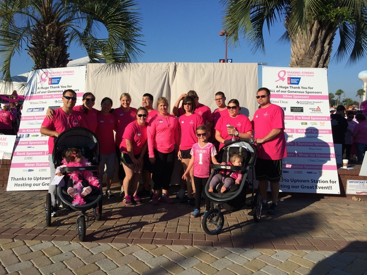 Team Bombshells At The Making Strides Against Breast Cancer Walk Ft Walton Beach, Fl T-Shirt Photo