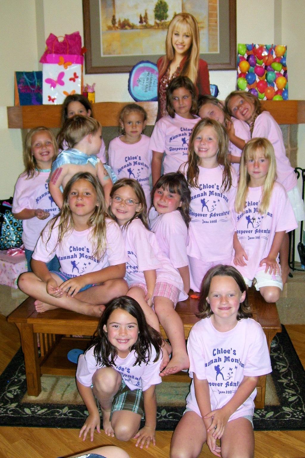 custom t shirts for chloe s 7th birthday hannah montana