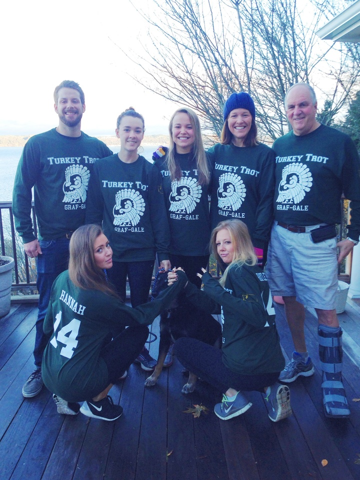 The Grafs And Gales Conquer The Turkey Trot! T-Shirt Photo
