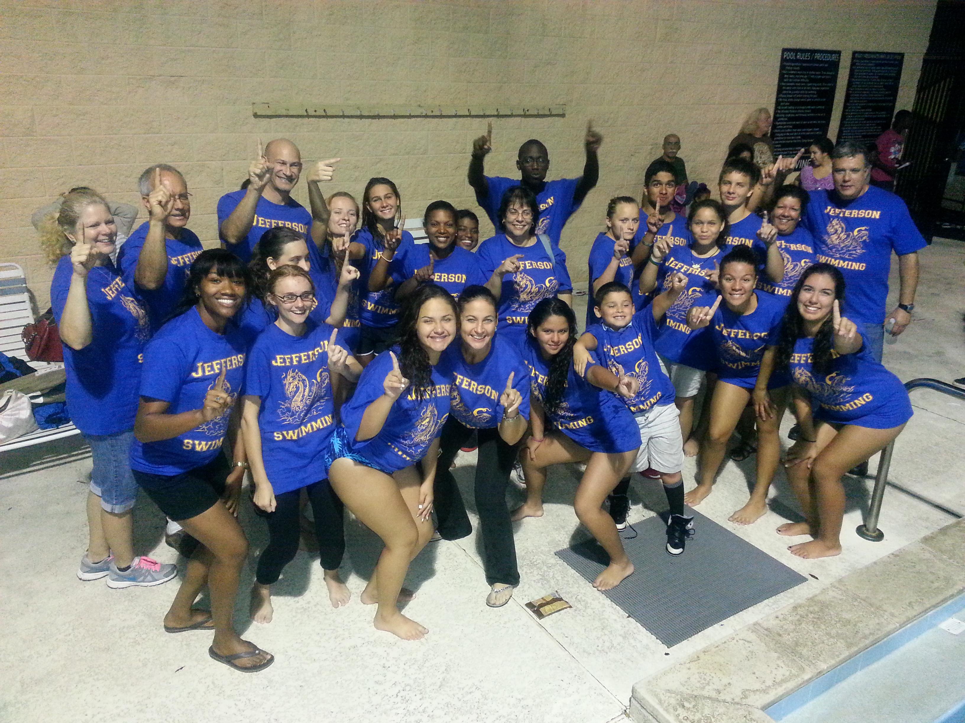 Shirt design tampa - Jefferson High Swim Team Tampa Fl T Shirt Photo