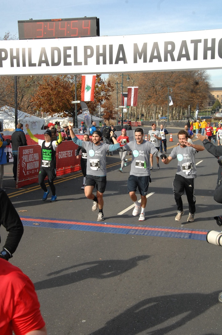 Philadelphia Marathon   Team Jonesbar T-Shirt Photo
