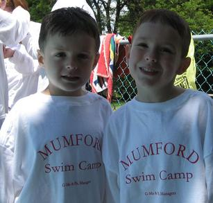 Matty And James At Swim Camp T-Shirt Photo
